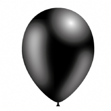 "Black 5 inch Balloons - Decotex 5"" Balloons 100pcs"